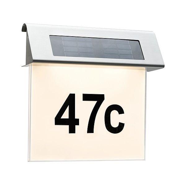 Solar Led Podświetlenie Nr Domu Ip44 1x02w